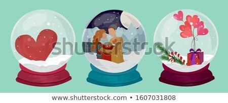 Christmas sneeuw souvenir kleur vintage Stockfoto © pikepicture