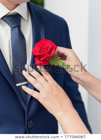 Foto d'archivio: Mani · sposa · esterna · wedding · giacca · rosa