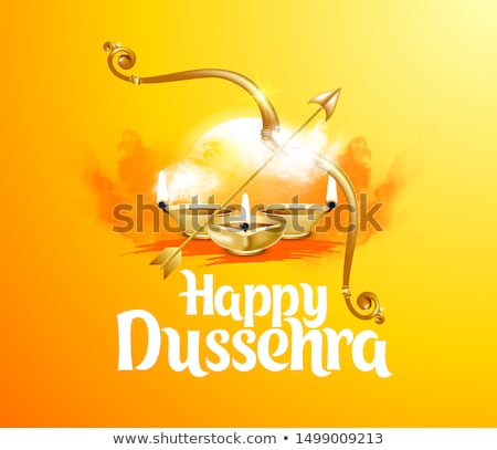 happy dussehra festival celebration background design with bow a Stock photo © SArts