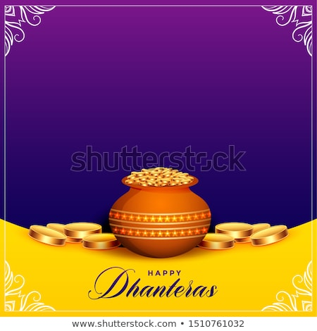 beautiful happy dhanteras festival card with text space Stock photo © SArts