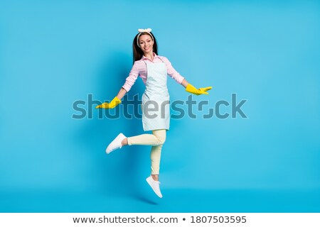 主婦 春 クリーン バケット ほうき ストックフォト © Kzenon