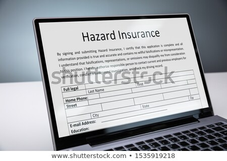 Laptop With Online Hazard Insurance Form Stock photo © AndreyPopov