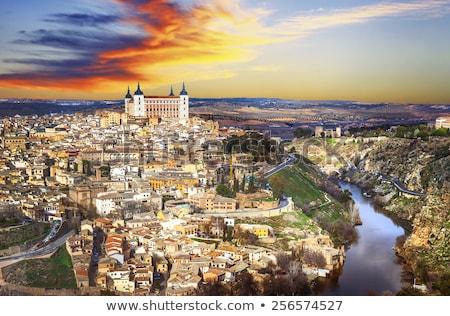 Panorama España río ciudad Europa paisaje urbano Foto stock © borisb17