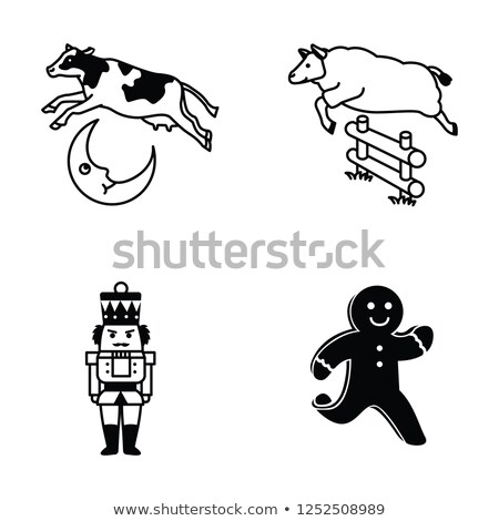 Leaping cow Stock photo © robStock