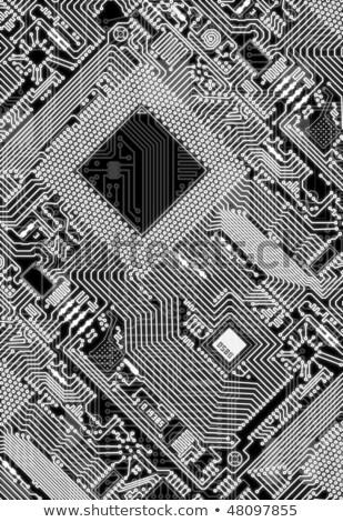 人工知能 タイル パターン 技術 シームレス コンピュータ ストックフォト © Anna_leni