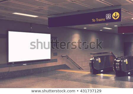 the billboard of a train stations entrance isolated in white stock photo © johnkwan