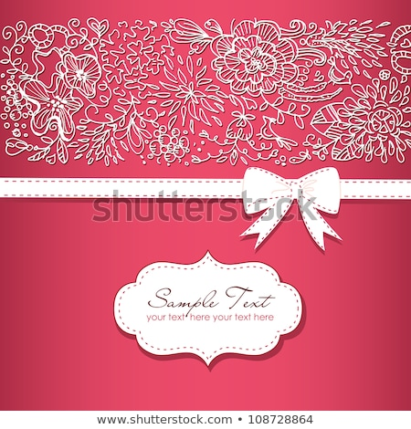 vector grunge background with floral greeting cards and ribbons stock photo © alkestida