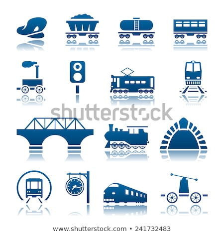 Cargo and passenger railroad cars vector illustration Stock photo © YuriSchmidt