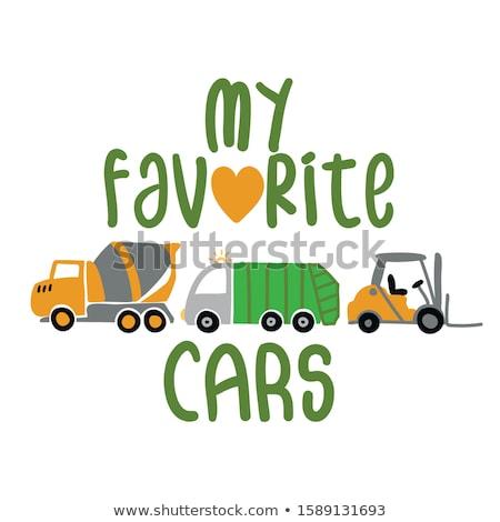 Mijn favoriet auto cement mixer vuilnis Stockfoto © Zsuskaa