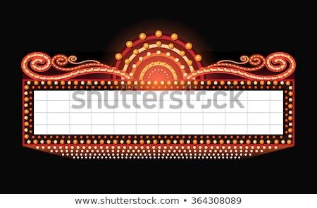 Illuminated neon marquee sign Stock photo © oxygen64