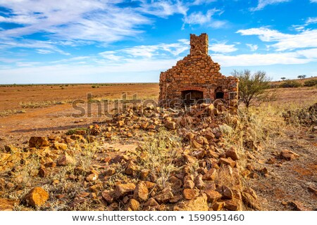 Rural Australia old stone farmhouse in ruins Stock photo © lovleah