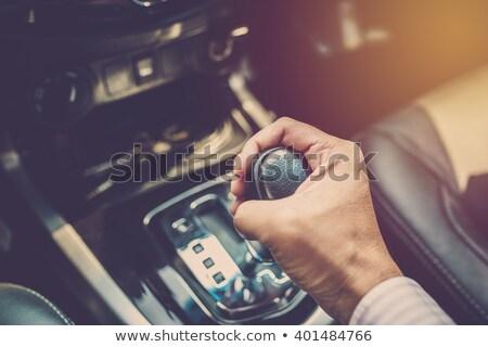 Viselet műszak fém sebesség fekete autó Stock fotó © nomadsoul1
