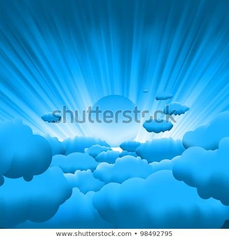 sun rays on blue sky template eps 8 vector illustration vladimir