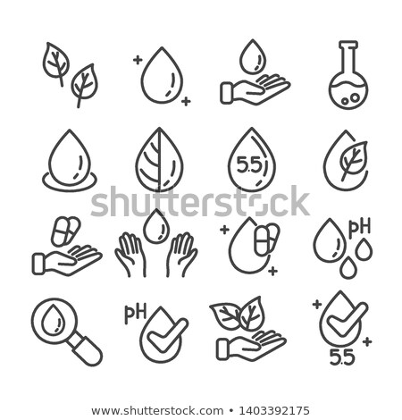 Neutral Ph Drop Icon Vector Outline Illustration Stock photo © pikepicture