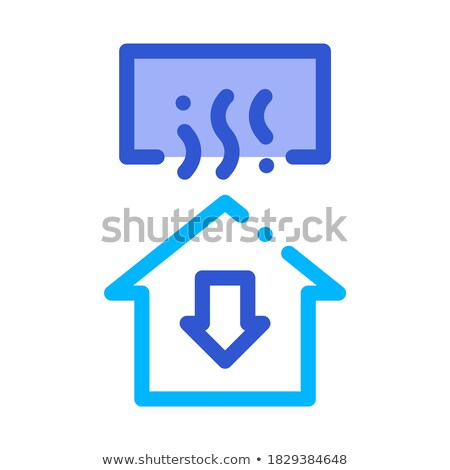 Temperature Loss House Window Arrow Down Vector Stock photo © pikepicture