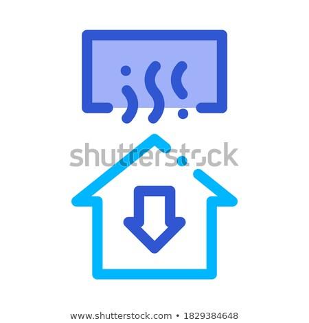 Temperatuur verlies huis venster pijl beneden Stockfoto © pikepicture