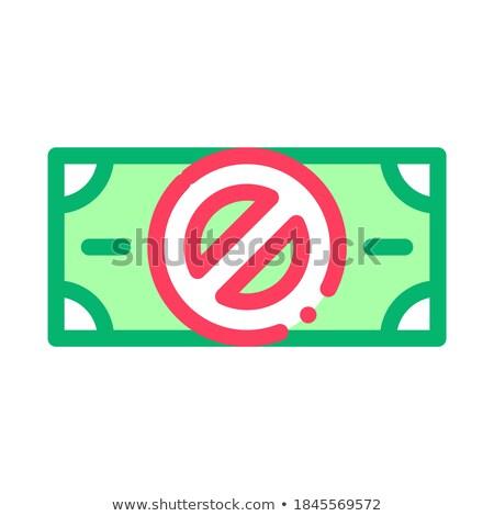 Falsificação notas logotipo ícone vetor Foto stock © pikepicture