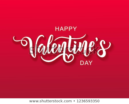 Happy Valentines Day Greeting Postcard Vector Stock photo © robuart