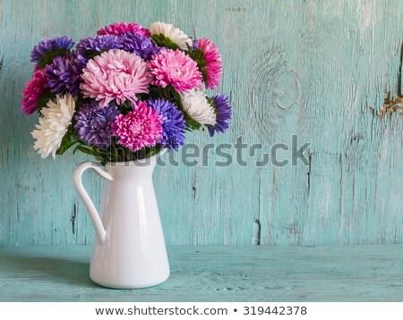 Outono flores jarro vetor buquê cerâmico Foto stock © kostins