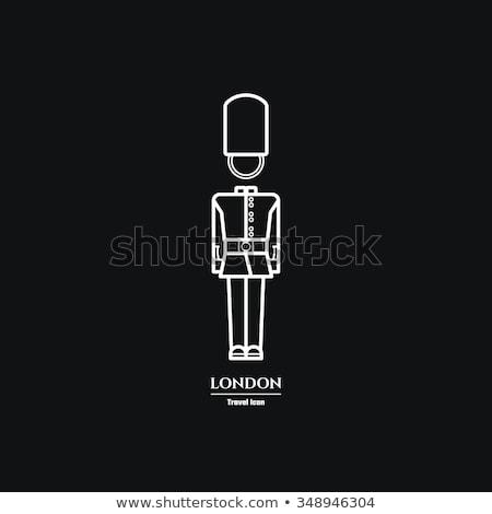 Királyi őr ikon vektor skicc illusztráció Stock fotó © pikepicture