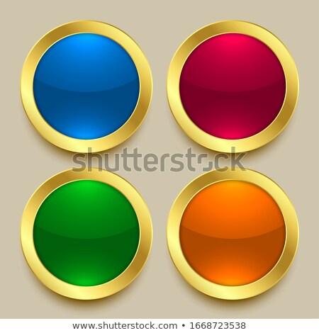 Prim parlak altın düğmeler farklı renkler Stok fotoğraf © SArts