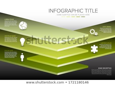 Vektor Schichten Vorlage fünf Ebene Stock foto © orson