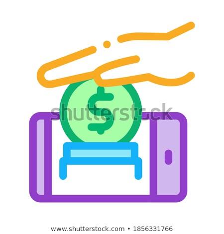 Mobiles compte icône vecteur illustration Photo stock © pikepicture