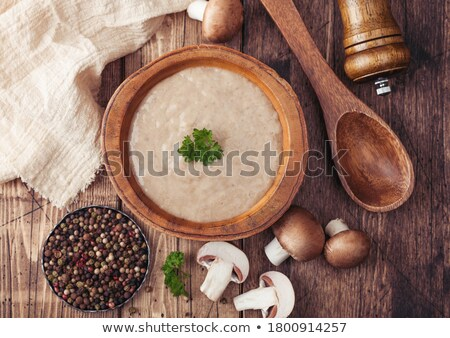 Placa cremoso castaño champiñón setas Foto stock © DenisMArt