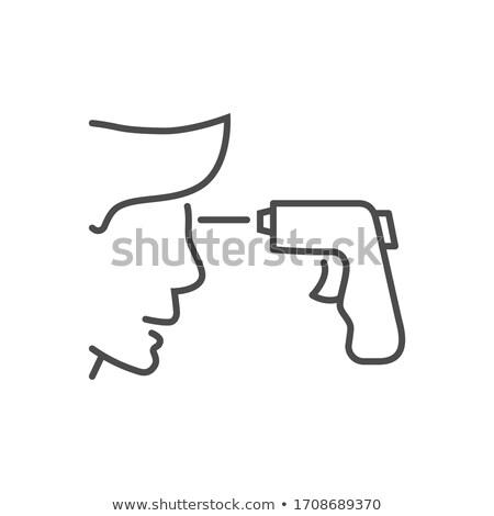 赤外 ベクトル 薄い 行 アイコン 計 ストックフォト © smoki