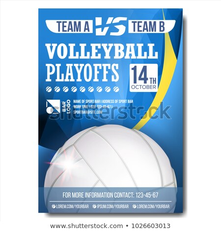 Volleyball Sport Event Promotional Poster Vector Stock photo © pikepicture