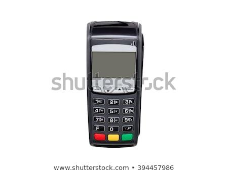 Hitelkártya olvasó felső kilátás fehér gép Stock fotó © magraphics