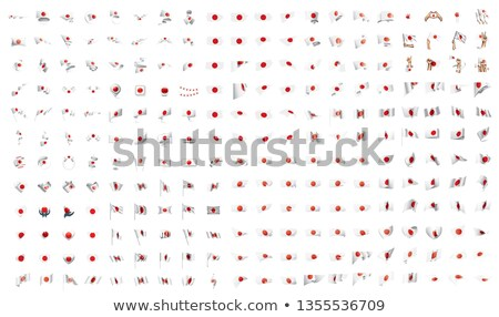 very big collection of vector flags of the Japan Stock photo © butenkow