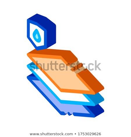 водонепроницаемый материальных полу изометрический икона вектора Сток-фото © pikepicture