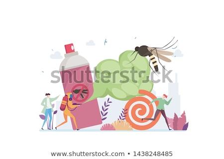Casa praga insetos controlar aterrissagem página Foto stock © RAStudio