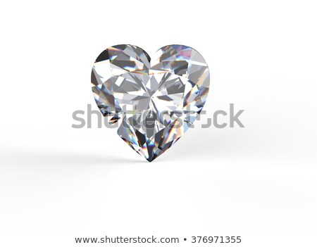Platina ezüst gyűrű forma szív gyémántok Stock fotó © oneo