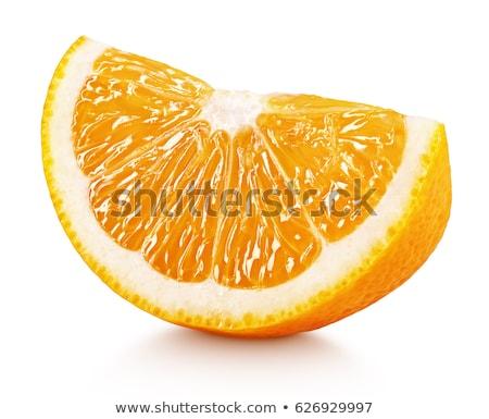 Stuk vers oranje vruchten schaduw witte natuur Stockfoto © Ansonstock