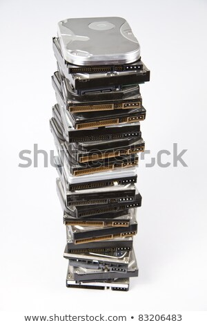 Stack of hard drive with opened one on top stock photo © gewoldi