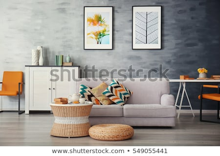 contemporary interior design with sofa and flowers Stock photo © travelphotography