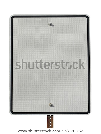 Actual street sign blank for copy space Stock photo © 808isgreat