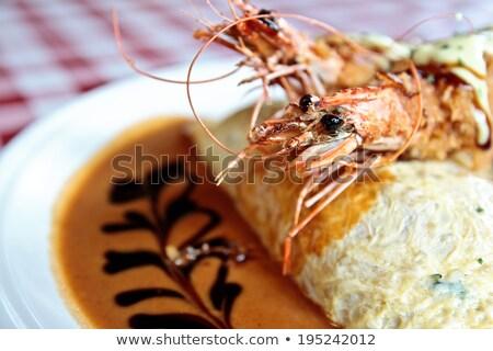 王 コメ ソース プレート 目 食べ ストックフォト © dsmsoft