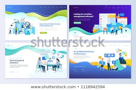 Social media software business vergadering abstract achtergrond Stockfoto © leeser