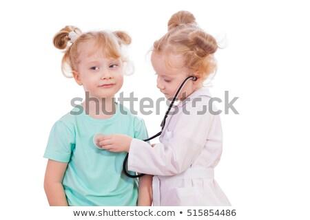 Doktor dinleme stetoskop adam tıbbi tıp Stok fotoğraf © photography33