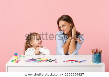 Stockfoto: Vijf · kleurrijk · boeken · witte · tabel