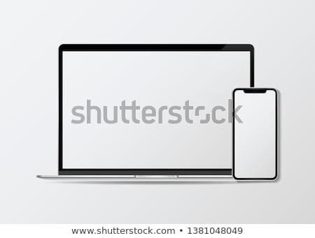 Stock photo: Copying Laptop And Mobile