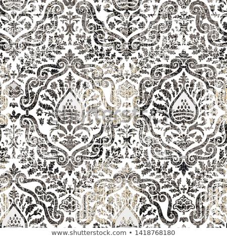 Stock Photo Seamless Textured Flower Wallpaper Vector Illustration Background
