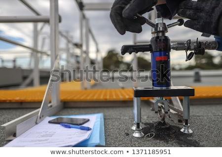 Punt beton hoek muur zachte focus Stockfoto © bobkeenan
