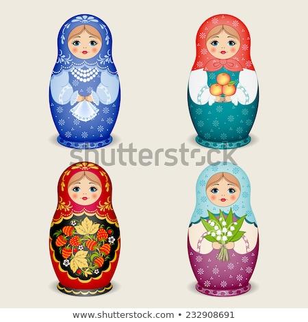 русский · кукла · семьи · иллюстрация · стиль - Сток-фото © ruigsantos