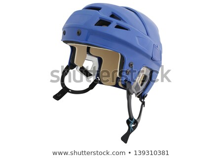 Hockey helm witte plaats ijs winter Stockfoto © ozaiachin
