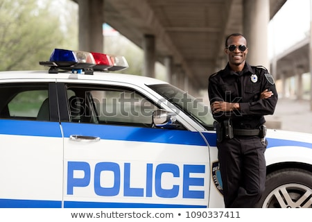 Black armed policemen Stock photo © Fernando_Cortes