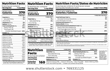 Nutrition Facts Label  Stock photo © tomoliveira